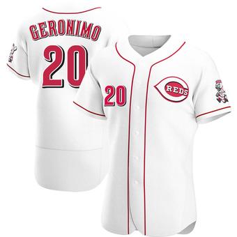 Men's Cesar Geronimo Cincinnati White Authentic Home Baseball Jersey (Unsigned No Brands/Logos)