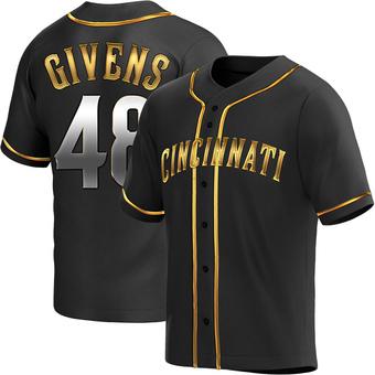 Men's Mychal Givens Cincinnati Black Golden Alternate Baseball Jersey (Unsigned No Brands/Logos)