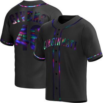 Men's Mychal Givens Cincinnati Black Holographic Alternate Baseball Jersey (Unsigned No Brands/Logos)