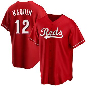 Men's Tyler Naquin Cincinnati Red Replica Alternate Baseball Jersey (Unsigned No Brands/Logos)