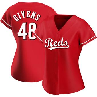 Women's Mychal Givens Cincinnati Red Replica Alternate Baseball Jersey (Unsigned No Brands/Logos)